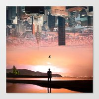 cityscape Canvas Prints featuring Cityscape by Enkel Dika