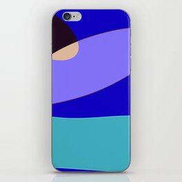 Minimal With Blue iPhone Skin