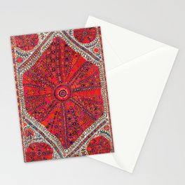 Pink Wildflower Sunshine II // 18th Century Colorful Pinkish Red Blue Sapphire Metallic Happy Patter Stationery Cards
