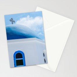 Greek Orthodox Church Oia Santorini Greece Stationery Cards