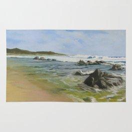 Gulls by the Rocks Rug