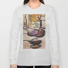 Cooking Dinner Long Sleeve T-shirt