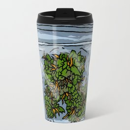 illustrated gram of cannabis Travel Mug