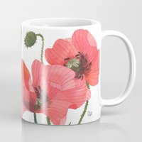 poppies Mugs featuring POPPIES by Oana Befort
