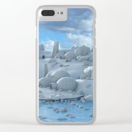 Artic Environment Clear iPhone Case