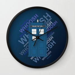 Tardis Whoosh sound Doctor Who Wall Clock