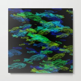 fishbonesGlow Metal Print