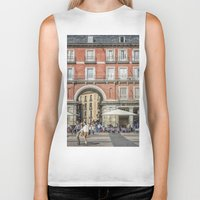 real madrid Biker Tanks featuring Relaxing cup, Madrid by Solar Designs