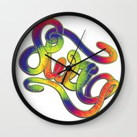swag Wall Clocks featuring Swag by Haze Design