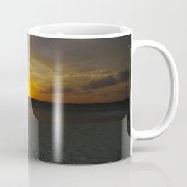 carribbean beach night moonrise. Coffee Mug