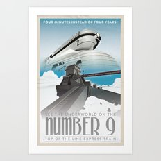 Grim Fandango Vintage Travel Posters - The Number Nine Art Print