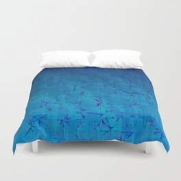 Distortion (Blue Skies) Duvet Cover