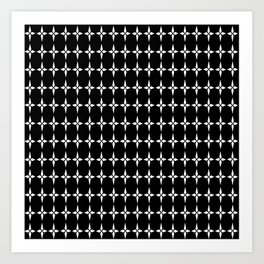 Four.Point.Print (Black) Art Print