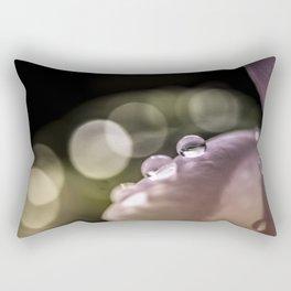 Bokeh drops Rectangular Pillow