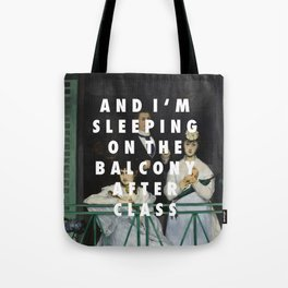 Balcony After Class Tote Bag