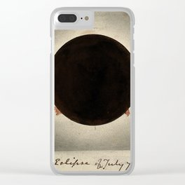 Corona of the Sun, during the Total Eclipse of July 1842 Clear iPhone Case