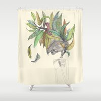 hat Shower Curtains featuring My hat by auntikatar