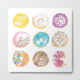 I Eat Donuts, Man Metal Print