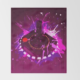 Girl Got Game Retro Throw Blanket