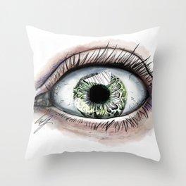 Macro Eye Throw Pillow