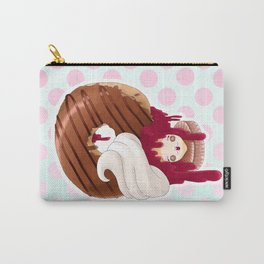Doll faced jelly filled chocolate donut Carry-All Pouch