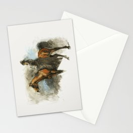 Amazon with her horse Stationery Cards