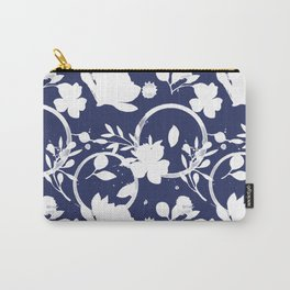 Blue And White Pattern No. 1 Carry-All Pouch