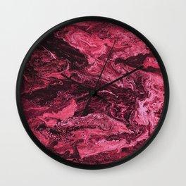 Storm at Sea Ruby Red Wall Clock