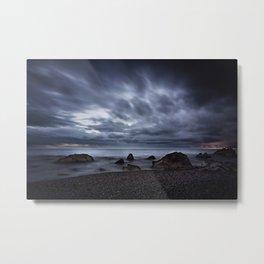 Gloomy Beach Metal Print