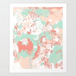 Anais - abstract minimal modern art print home office must have canvas wall art Art Print