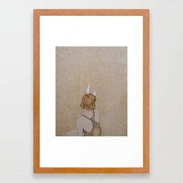 Perk Your Ears Up Framed Art Print