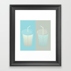 This empty cup cannot fill another Framed Art Print