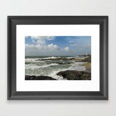 Stormy Cornwall Framed Art Print