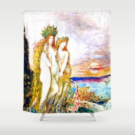 """Gustave Moreau """"The Sirens"""" Shower Curtain"""