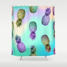 Pineapple Glow Shower Curtain
