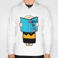 snoopy Hoodies featuring How to conquer a woman's heart by Alexandre Reis