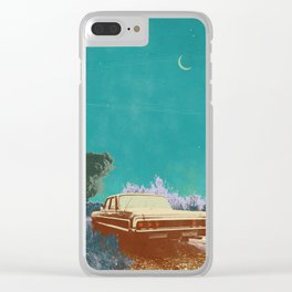 EVENING EXPLOSION Clear iPhone Case