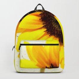 Heart shape Love Yellow sunflower Backpack