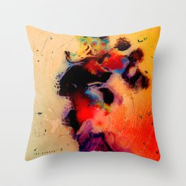 At the tempo of the carnival Throw Pillow