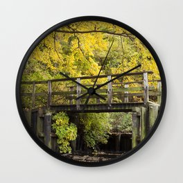 Jersey in Yellow Wall Clock