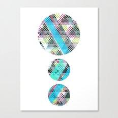pop circle Canvas Print