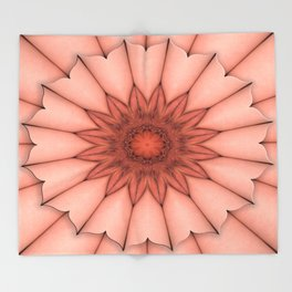 4655 Intimate Sexual Mandala Nude Female Enter Naked Closeup Vulva Abstracted Sensual Sexy Erotic Throw Blanket