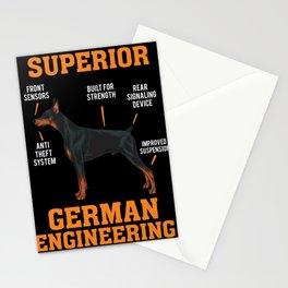 Cool Dobermans Gift: Superior German Engineering I Dog Stationery Cards
