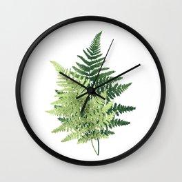 Summer Forest Ferns Wall Clock