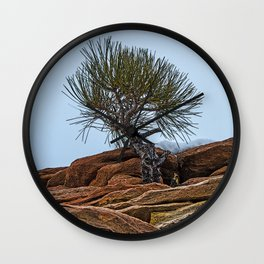 PINE AND PLANET Wall Clock