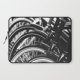 Bicycles, Bikes in Black and White Photography Laptop Sleeve