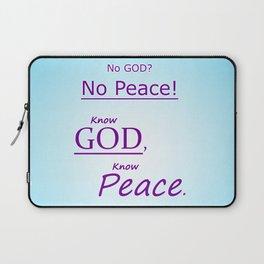 Know God Laptop Sleeve