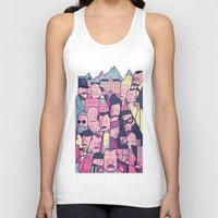 budapest Tank Tops featuring Grand Hotel by Ale Giorgini