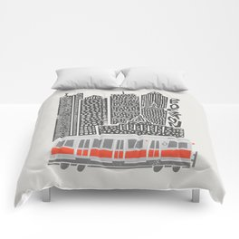 Boston City Illustration Comforters