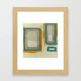 Soft And Bold Rothko Inspired - Corbin Henry Modern Art - Teal Blue Orange Beige Framed Art Print